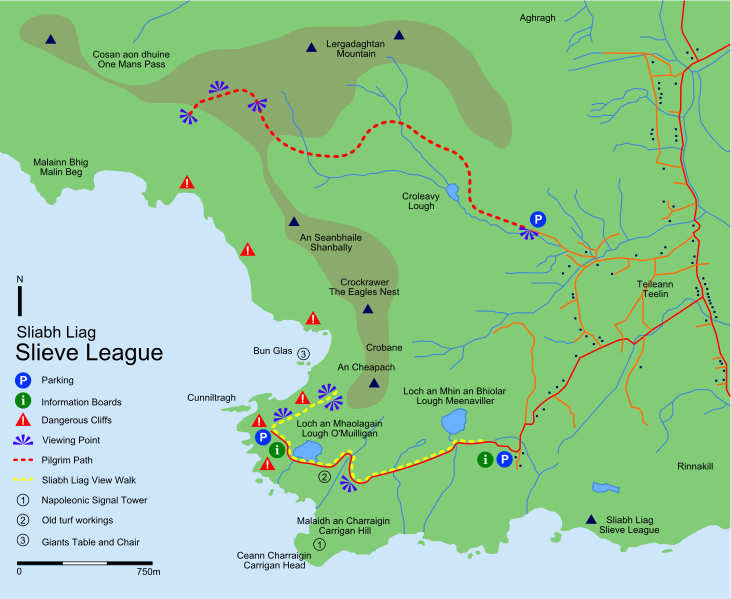 Carte de slieve league