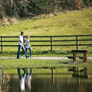 Couple walking at Killykeen