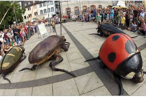 Spraoi - festival - waterford - Août - Joli - Vyann - spectacle - visites - parade - Big Bugs - insectes géants