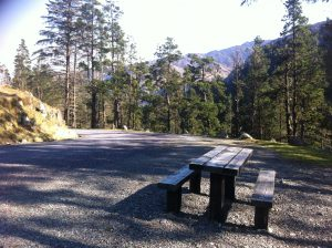 Gougane Barra - picnic - table